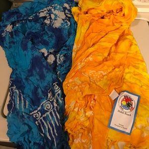 Bundle of 2 BNWT sarongs for women
